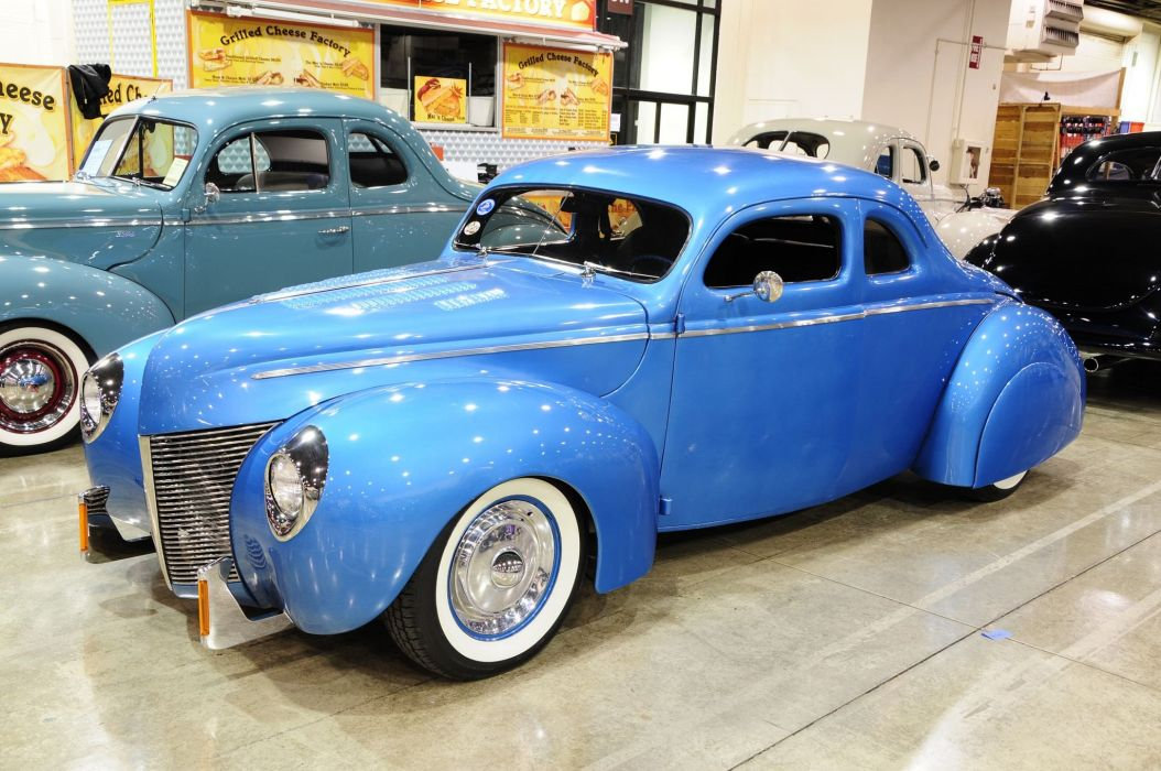 1940 Ford Coupe Chopperd Hot Rod Custom USA 2046x1360 wallpaper