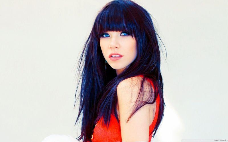 SENSUALITY - red dress beautiful girl blue eyes wallpaper