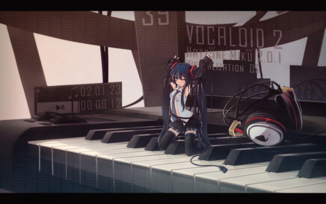 vocaloid luka megurine hatsune miku anime girl sweet wallpaper