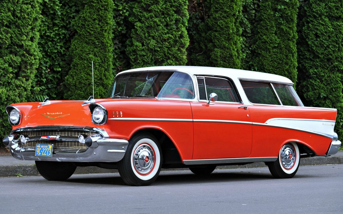chevrolet nomad-1957 cars old motors red wallpaper
