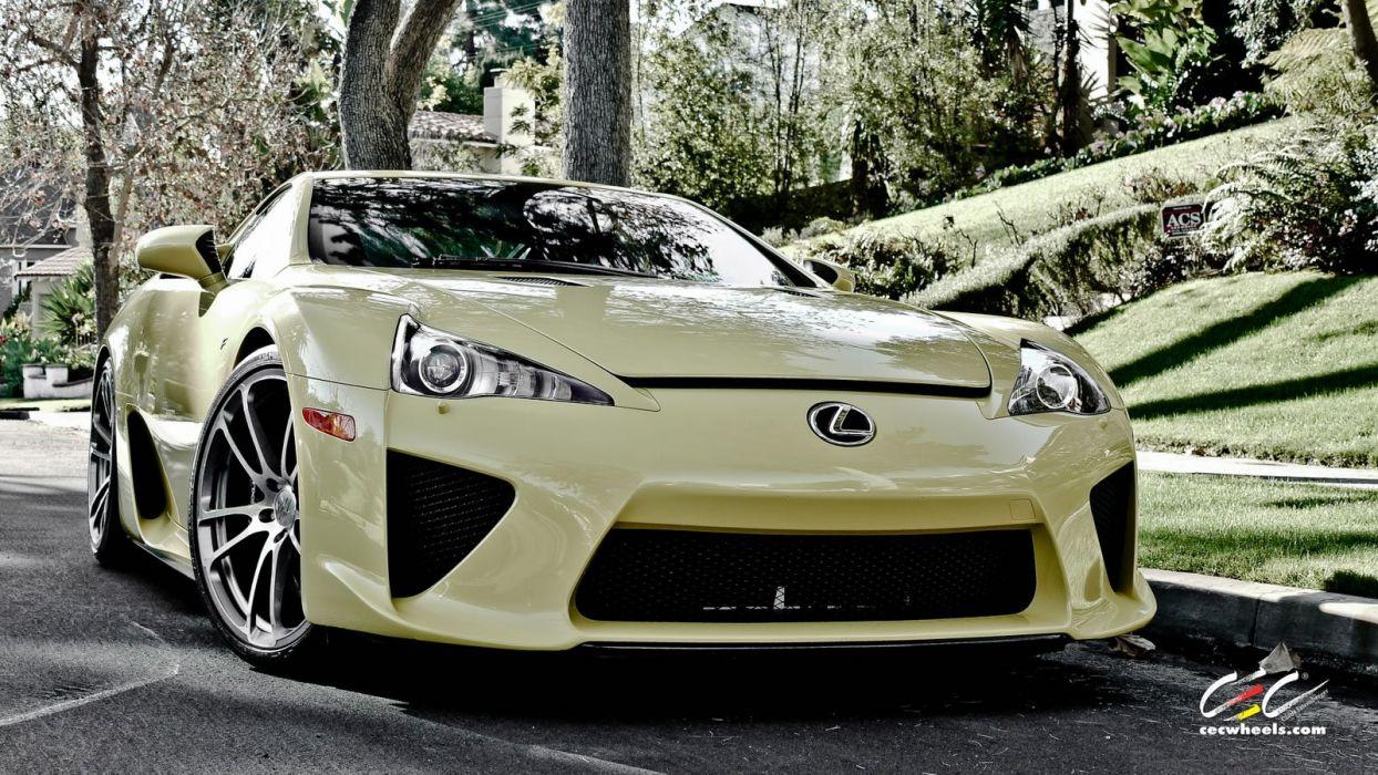 2015 cars SUPERCARS coupe CEC Tuning wheels Lexus LFA wallpaper