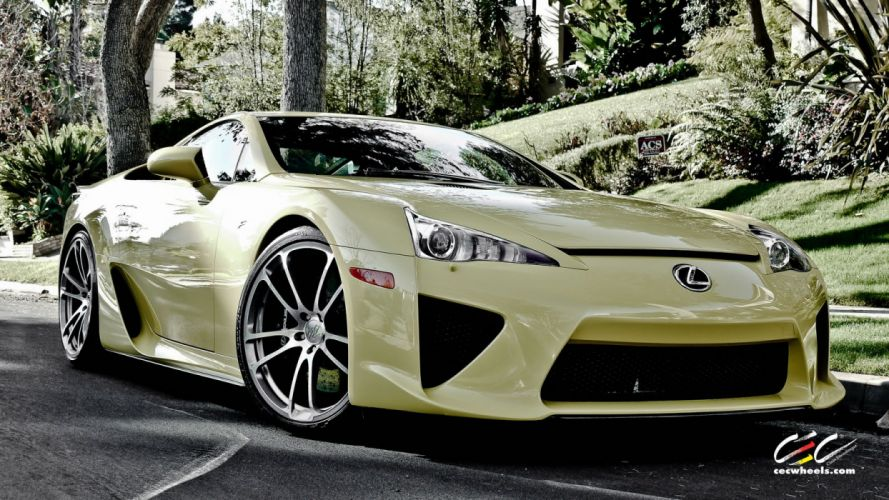 2015 cars SUPERCARS coupe CEC Tuning wheels Lexus LFA wallpaper