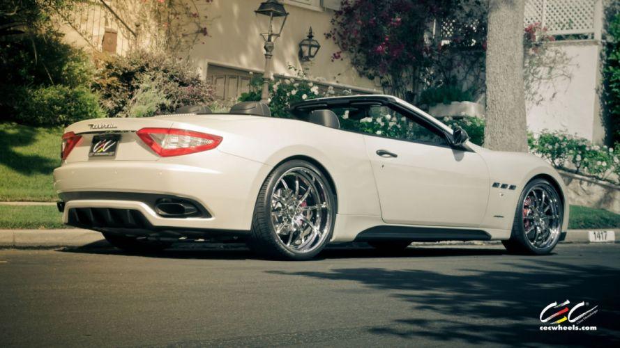 2015 cars CEC Coupe supercars Tuning wheels Maserati GranTurismo MC Sport convertible wallpaper