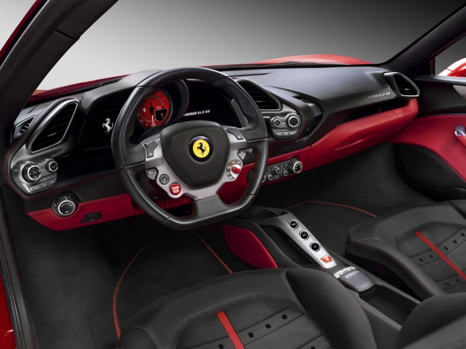 2015 Ferrari 488 GTB supercar wallpaper