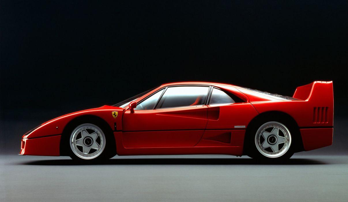 1987 Ferrari F40 Le-Mans supercar race racing wallpaper