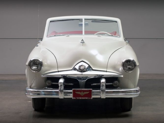 1951 Frazer Manhattan Convertible Sedan F5162 retro luxury wallpaper