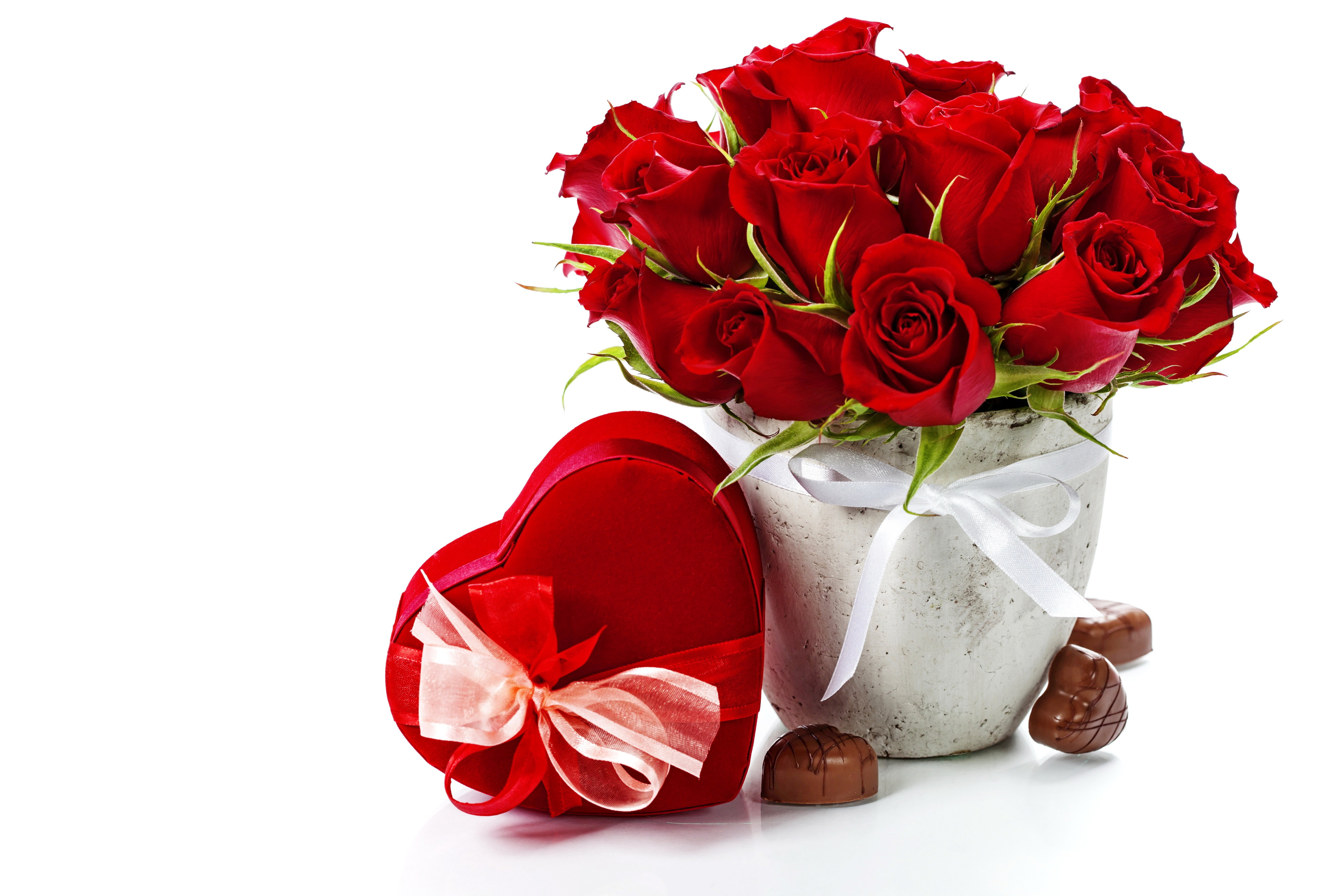 Rose Flowers Red Love Romance Life For Chocolate Gift Couple Bouquet