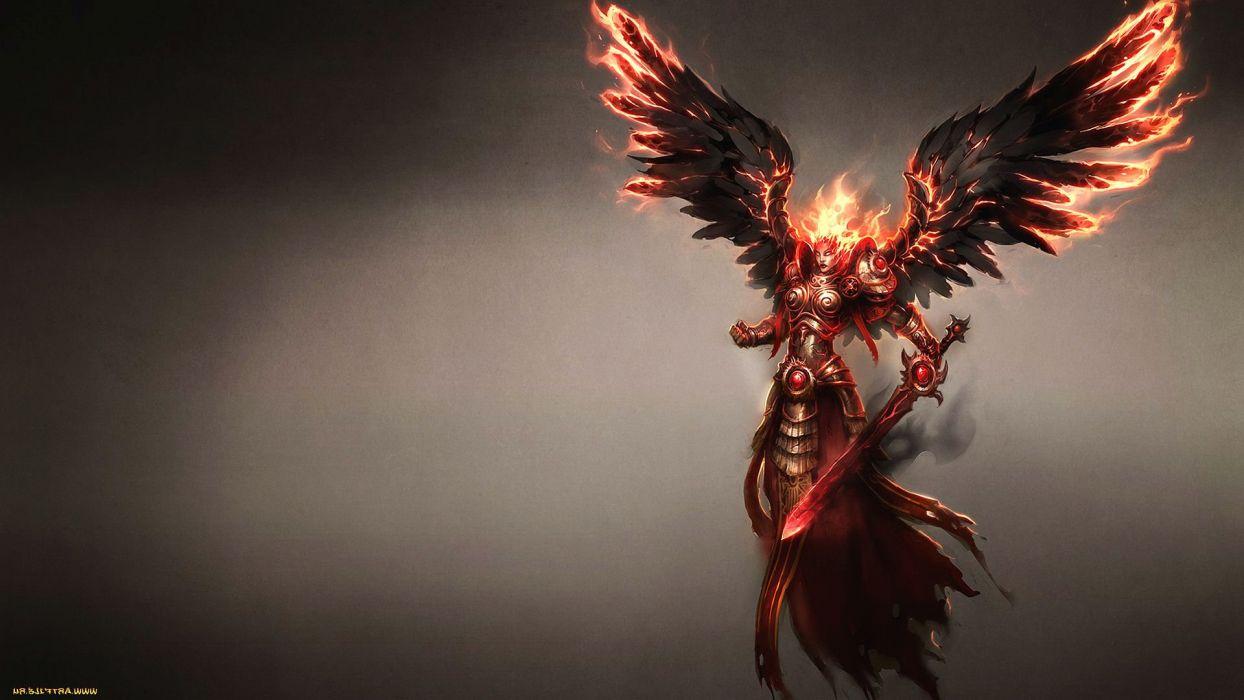 HEROES MIGHT MAGIC strategy fantasy fighting adventure action online 1hmm angel fire dark demon wallpaper