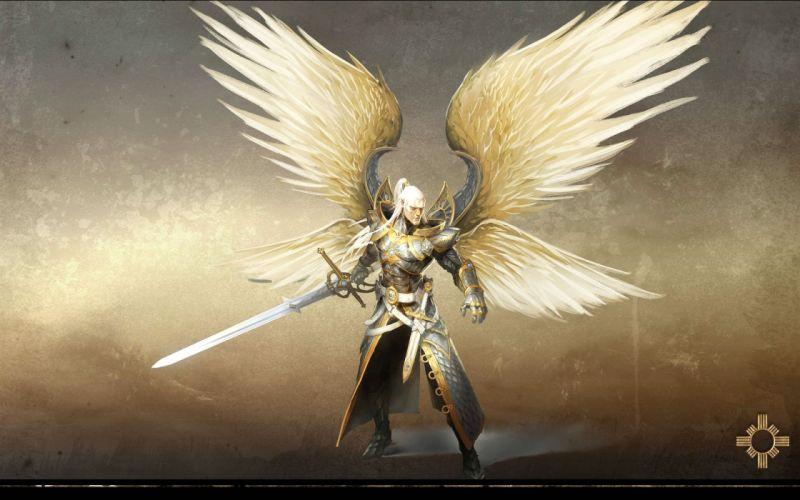 HEROES MIGHT MAGIC strategy fantasy fighting adventure action online 1hmm angel warrior sword wallpaper