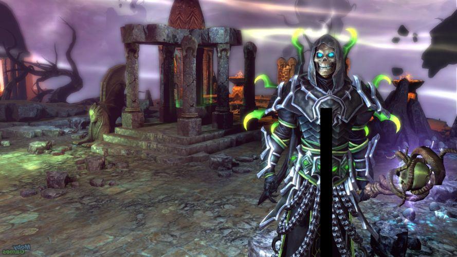 HEROES MIGHT MAGIC strategy fantasy fighting adventure action online 1hmm dark skull reaper wallpaper