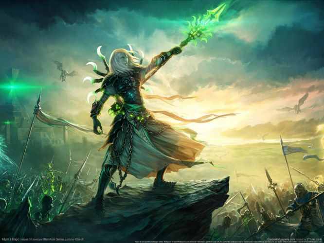 HEROES MIGHT MAGIC strategy fantasy fighting adventure action online 1hmm warrior sword magic army war battle wallpaper