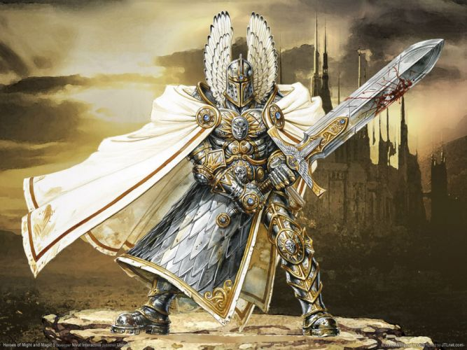 HEROES MIGHT MAGIC strategy fantasy fighting adventure action online 1hmm warrior sword wallpaper