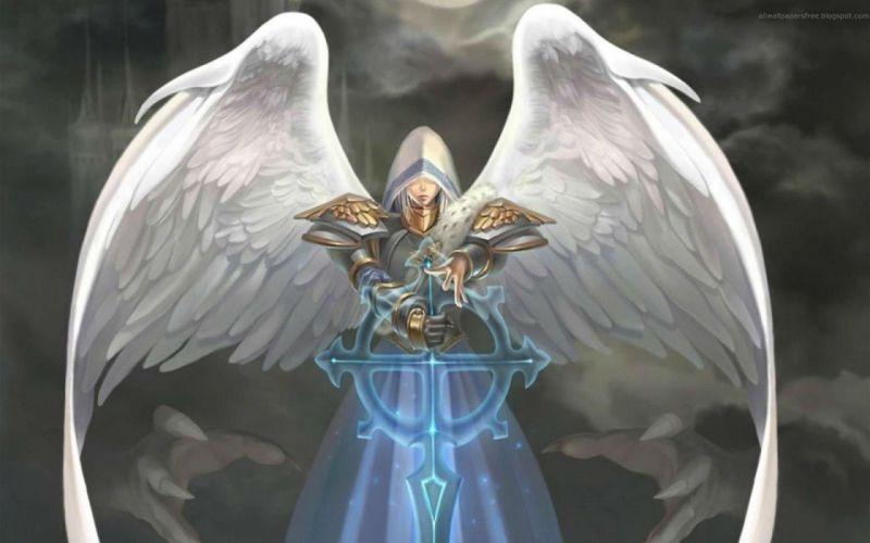 HEROES MIGHT MAGIC strategy fantasy fighting adventure action online 1hmm angel warrior sword magic wallpaper