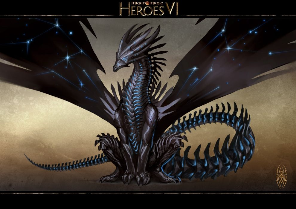 HEROES MIGHT MAGIC strategy fantasy fighting adventure action online 1hmm poster dragon wallpaper