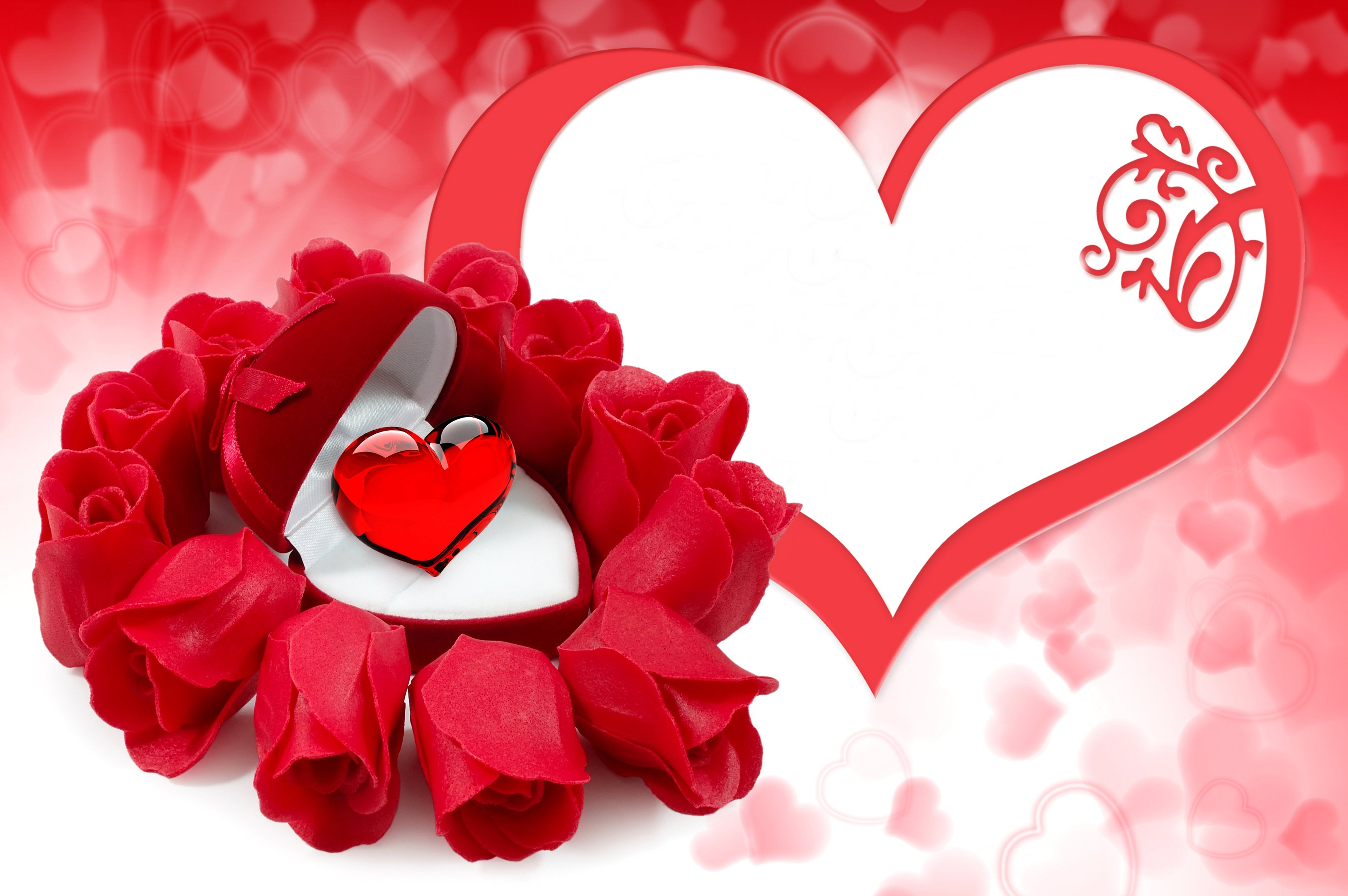 bouquet - hearts - couple - flowers - for - gift - life - love - red