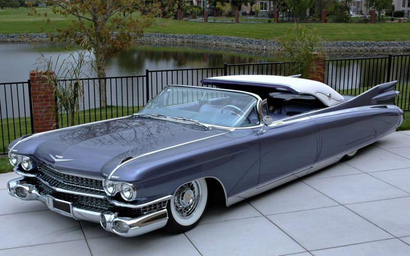 Cadillac Eldorado 1960 convertible retro old classic cars motors lake wallpaper