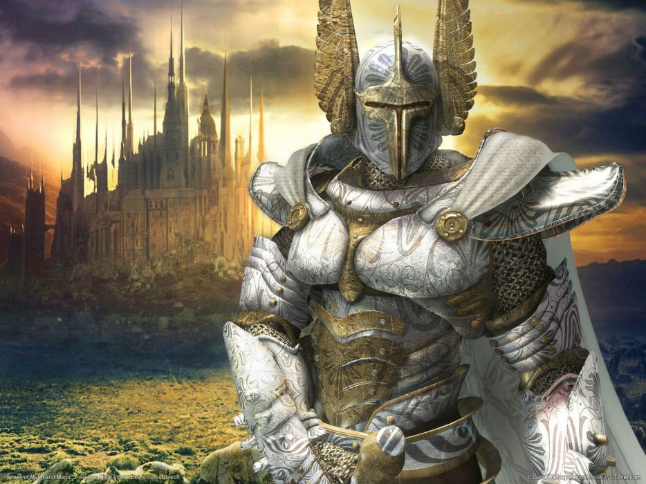HEROES MIGHT MAGIC strategy fantasy fighting adventure action online 1hmm knight armor warrior castle wallpaper