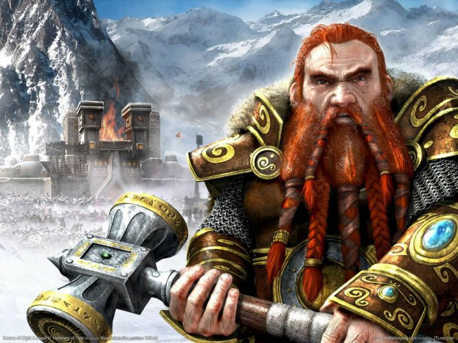 HEROES MIGHT MAGIC strategy fantasy fighting adventure action online 1hmm warrior dwarf castle wallpaper