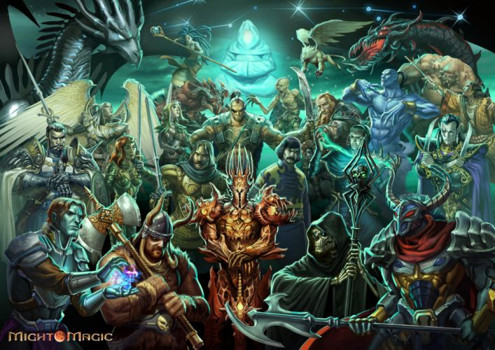HEROES MIGHT MAGIC strategy fantasy fighting adventure action online 1hmm warrior dragon poster wallpaper