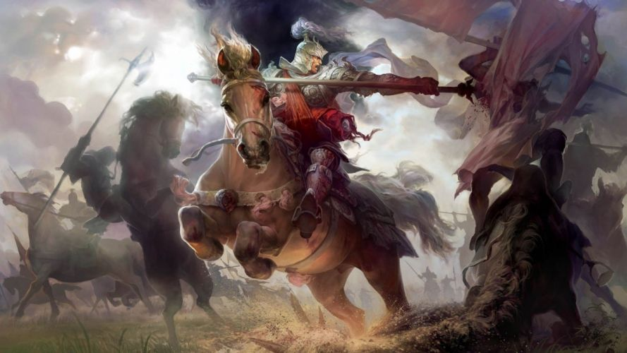 HEROES MIGHT MAGIC strategy fantasy fighting adventure action online 1hmm warrior battle horse armor knight wallpaper