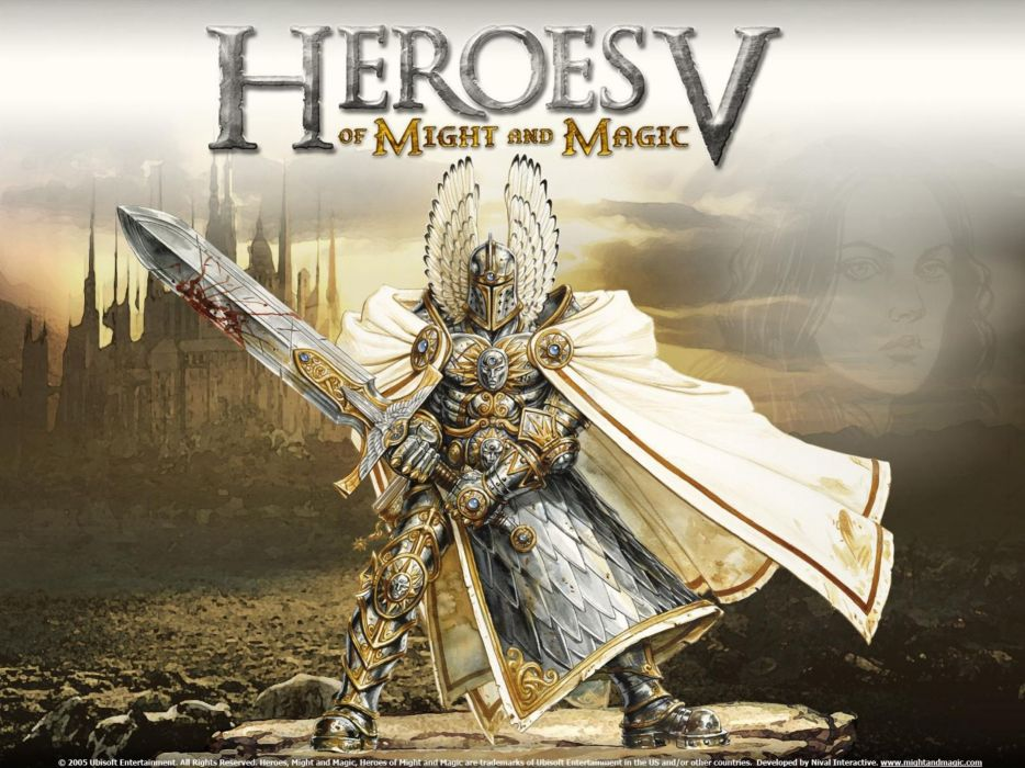 HEROES MIGHT MAGIC strategy fantasy fighting adventure action online 1hmm poster warrior knight sword castle wallpaper