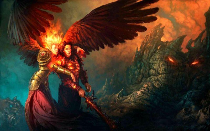 HEROES MIGHT MAGIC strategy fantasy fighting adventure action online 1hmm magic demon sword fire warrior wallpaper