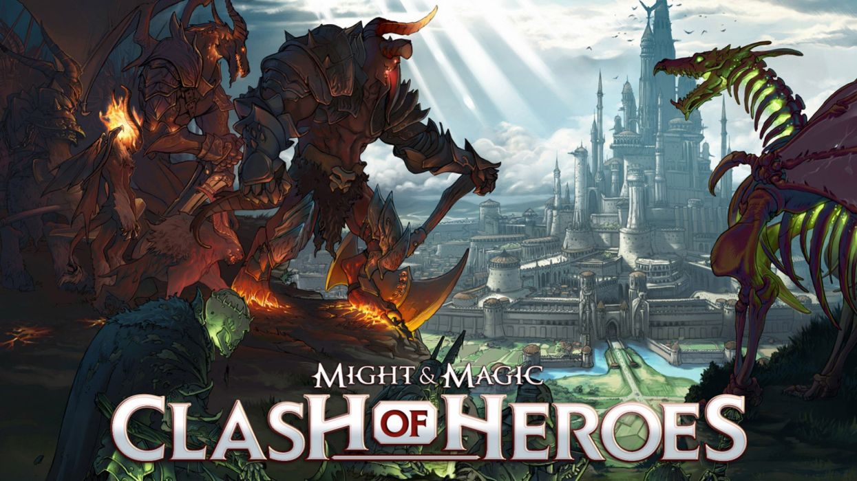 HEROES MIGHT MAGIC strategy fantasy fighting adventure action online 1hmm poster monster dragon castle wallpaper