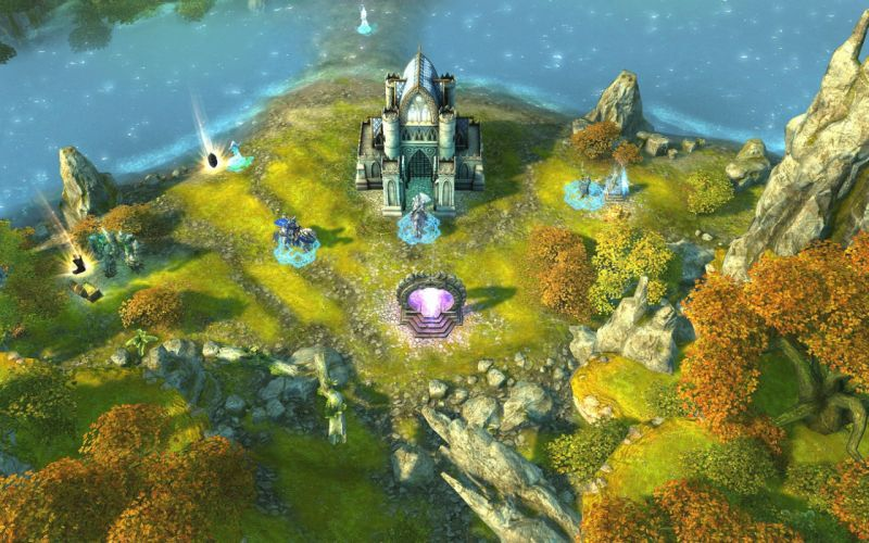HEROES MIGHT MAGIC strategy fantasy fighting adventure action online 1hmm map castle landscape warrior wallpaper