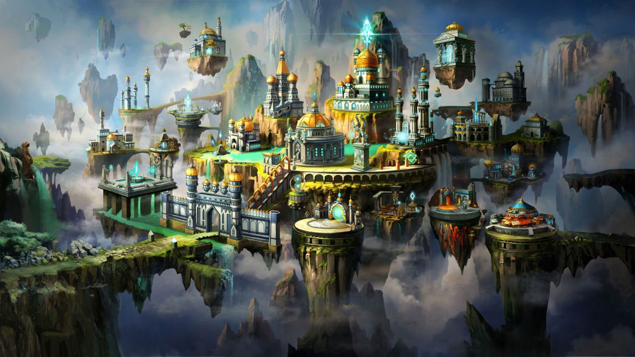 HEROES MIGHT MAGIC strategy fantasy fighting adventure action online 1hmm castle city cities island wallpaper