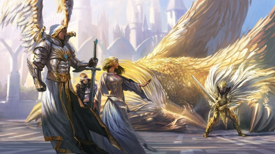 HEROES MIGHT MAGIC strategy fantasy fighting adventure action online 1hmm warrior angel battle griffin eagle wallpaper