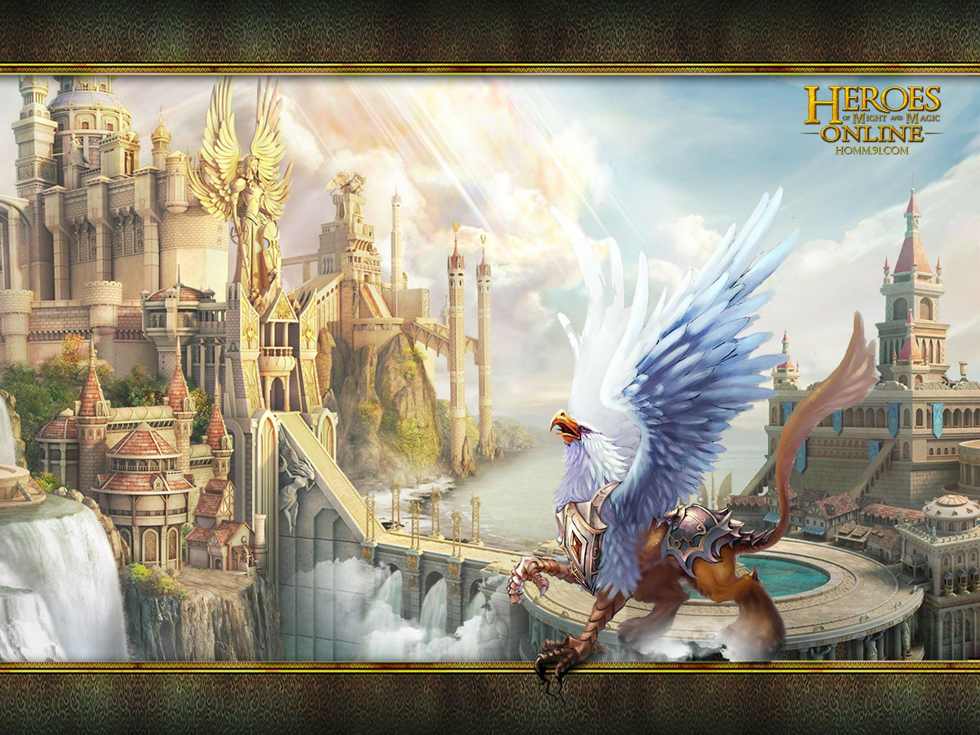 HEROES MIGHT MAGIC Strategy Fantasy Fighting Adventure Action Online 1hmm Eagle Castle City Cities Wallpaper
