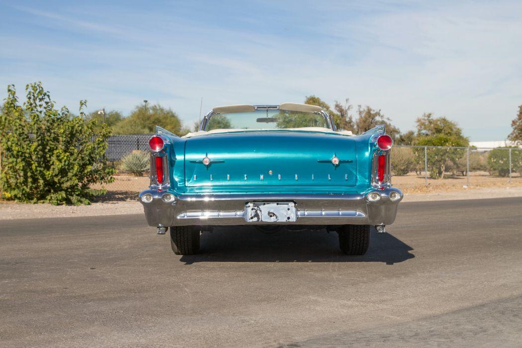 1958 Oldsmobile 9-8 Convertible 3067DX retro luxury wallpaper