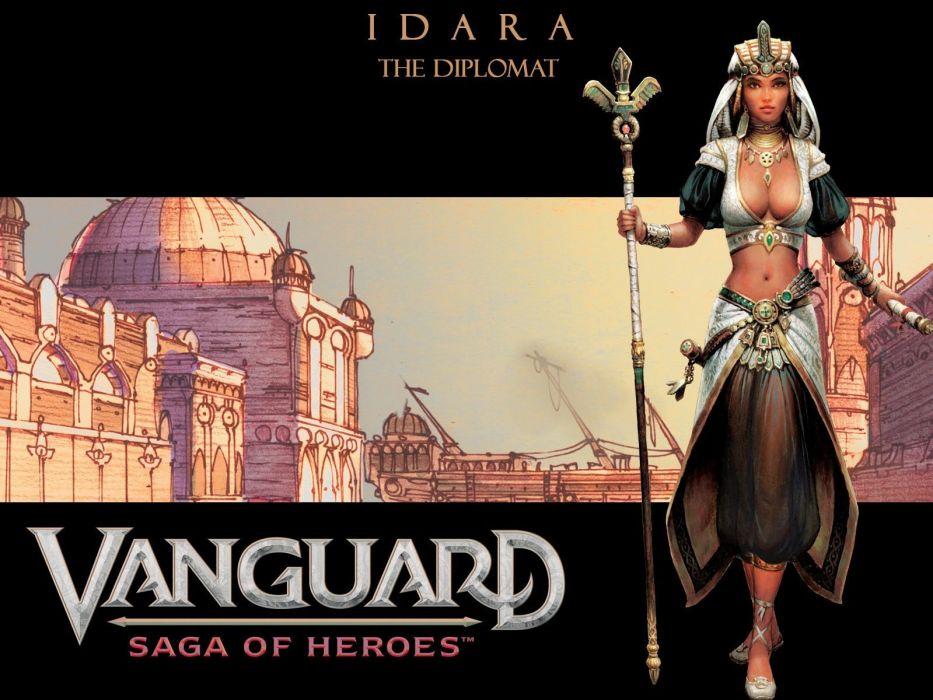 VANGUARD SAGA HEROES fantasy mmo rpg fighting online 1vsh action adventure warrior wallpaper