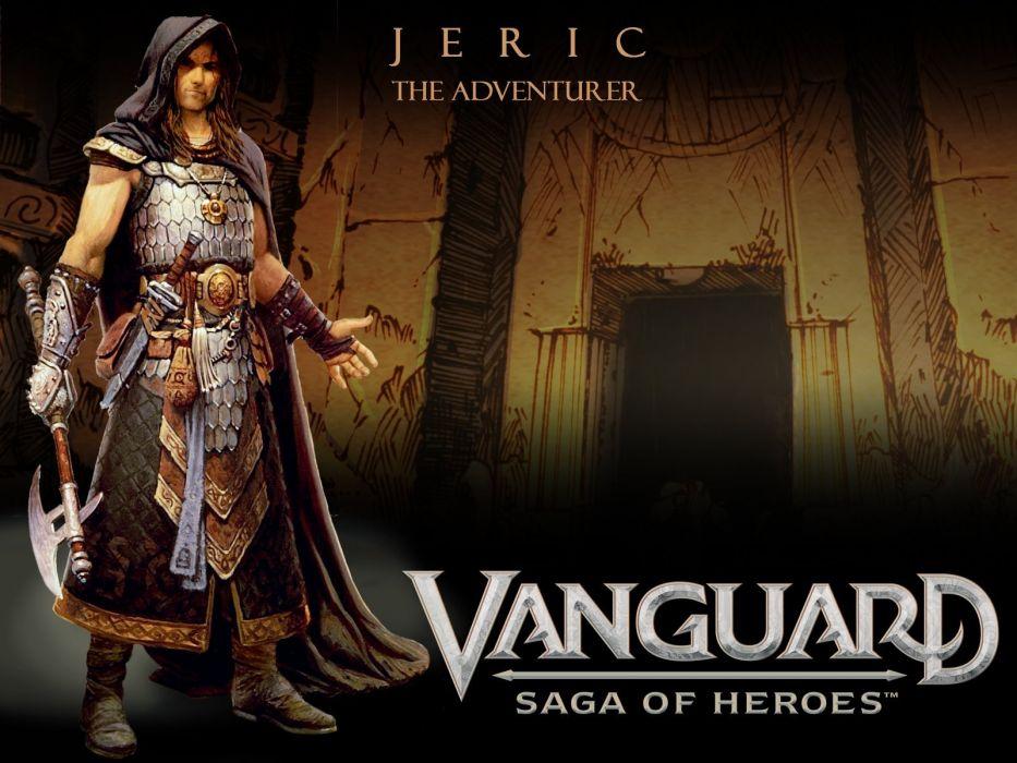 VANGUARD SAGA HEROES fantasy mmo rpg fighting online 1vsh action adventure poster warrior wallpaper