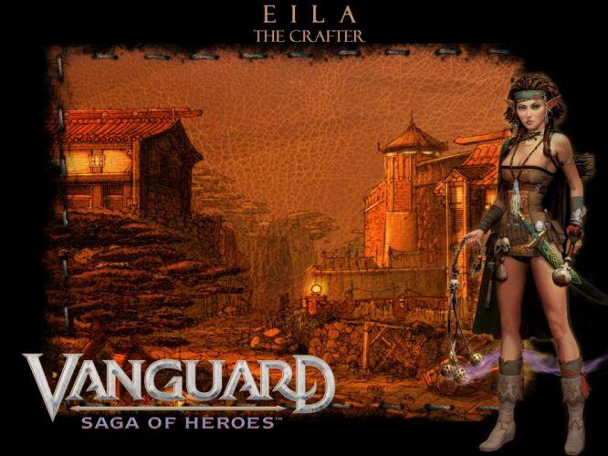 VANGUARD SAGA HEROES fantasy mmo rpg fighting online 1vsh action adventure warrior poster castle wallpaper