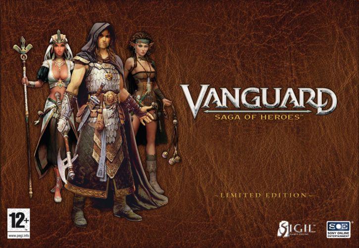VANGUARD SAGA HEROES fantasy mmo rpg fighting online 1vsh action adventure warrior poster wallpaper