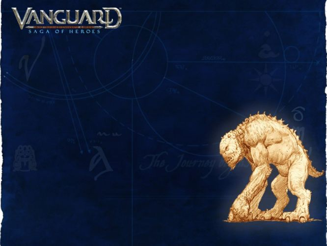 VANGUARD SAGA HEROES fantasy mmo rpg fighting online 1vsh action adventure poster monster creature wallpaper