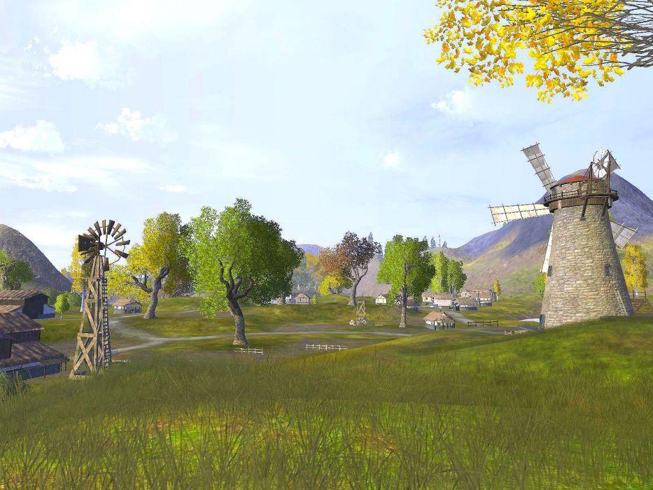 VANGUARD SAGA HEROES fantasy mmo rpg fighting online 1vsh action adventure landscape windmillr wallpaper