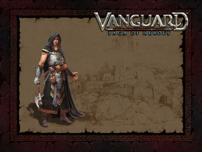 VANGUARD SAGA HEROES fantasy mmo rpg fighting online 1vsh action adventure poster warrior wallpaper