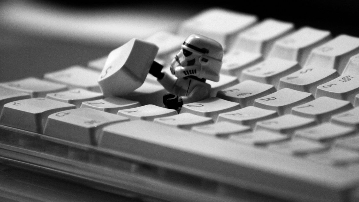 Apple Star Wars Lego Stormtrooper wallpaper