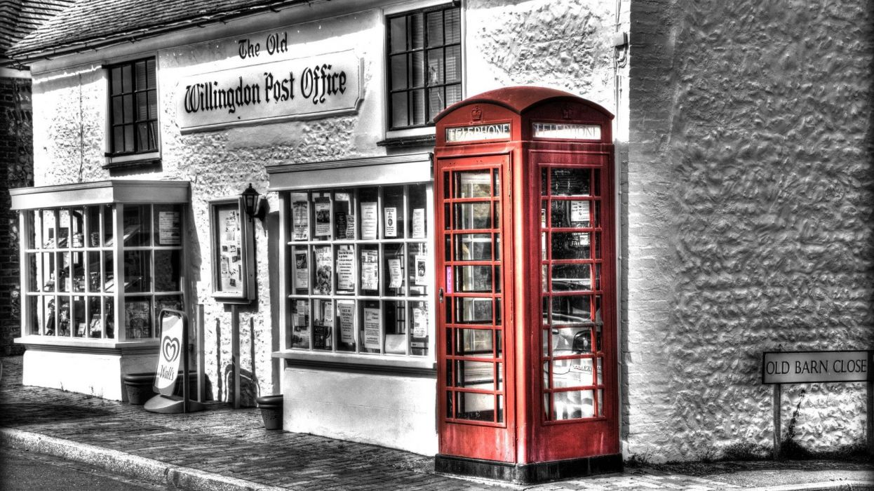 Colour of Willingdon Post Office England Photo by MDL Photographic wallpaper
