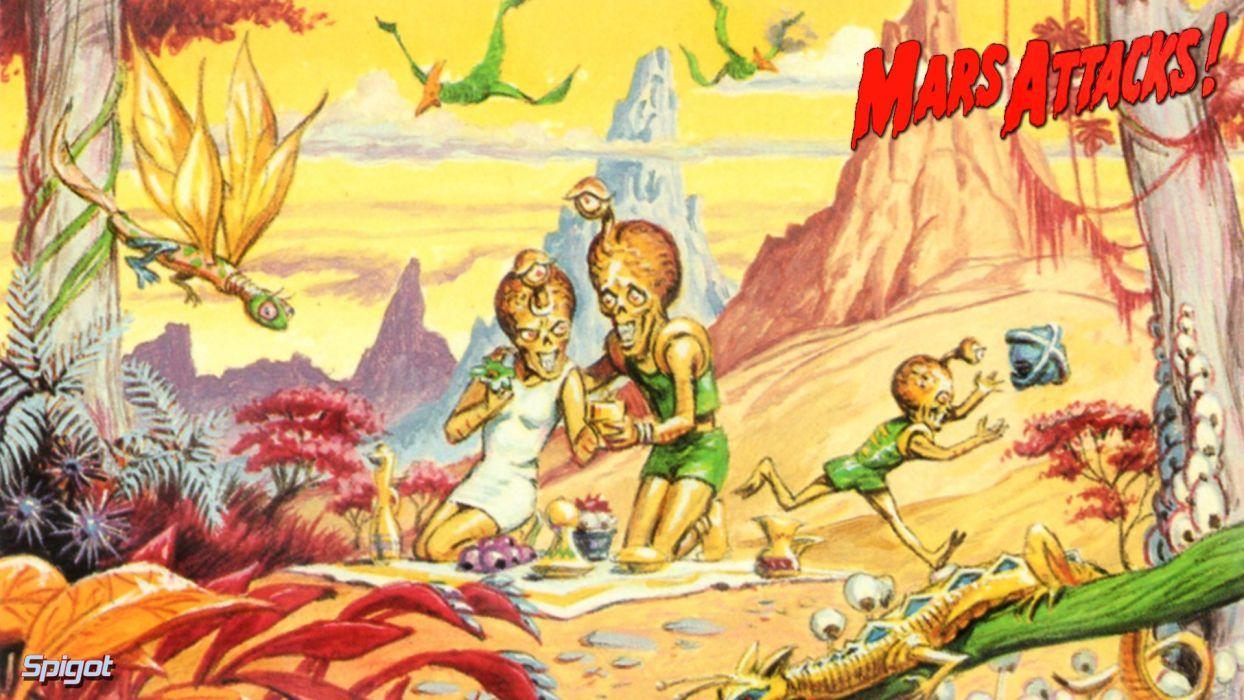 Mars Attacks Comedy Sci Fi Martian Alien Aliens Action 1mat