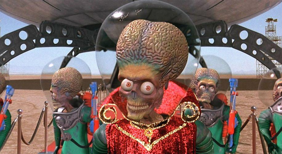 MARS ATTACKS comedy sci-fi martian alien aliens action 1mat apocalyptic comics movie wallpaper
