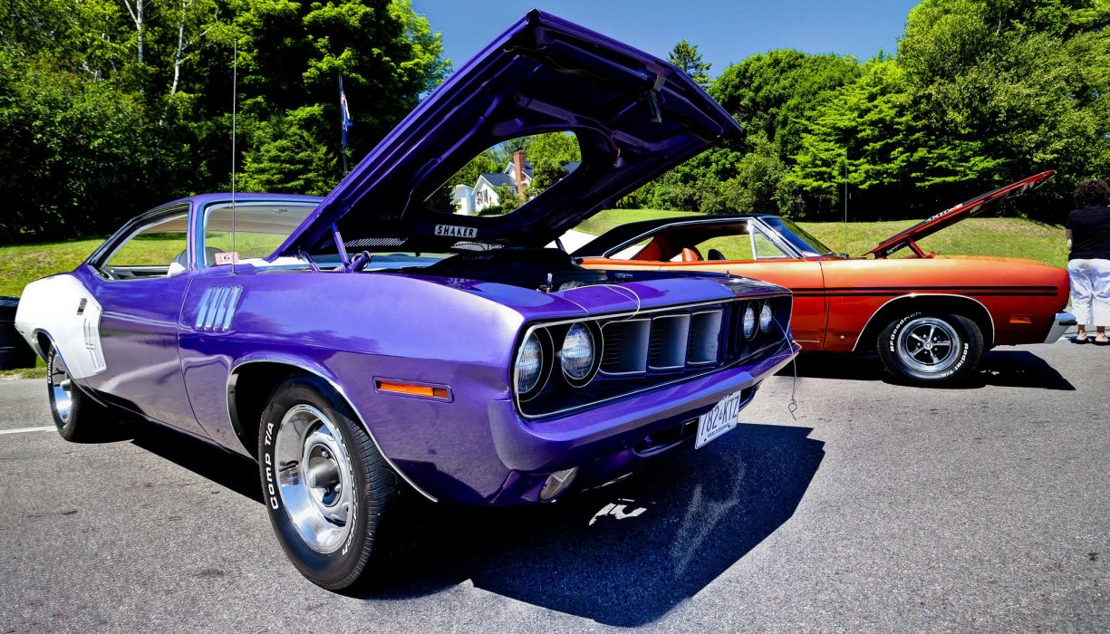Plymouth Hemi Cuda cars muscle classic wallpaper