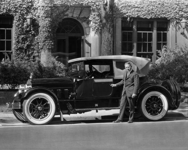 1916 Packard Twin Six Cloverleaf Runabout 1-35 retro vintage wallpaper