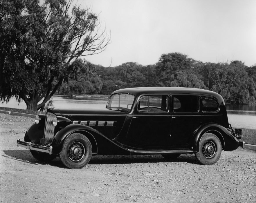 1935 Packard Super Eight 7-passenger Sedan 1205-854 retro luxury wallpaper