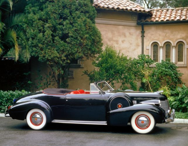 1940 Cadillac Sixty-Two Convertible Coupe 40-6267 luxury retro wallpaper
