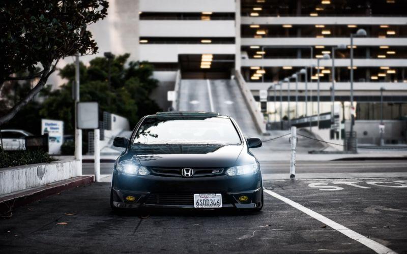Honda Civic Si Black wallpaper