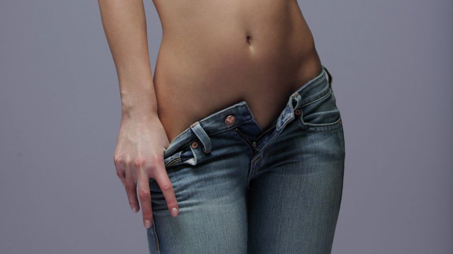SENSUALITY - girl belly jeans wallpaper