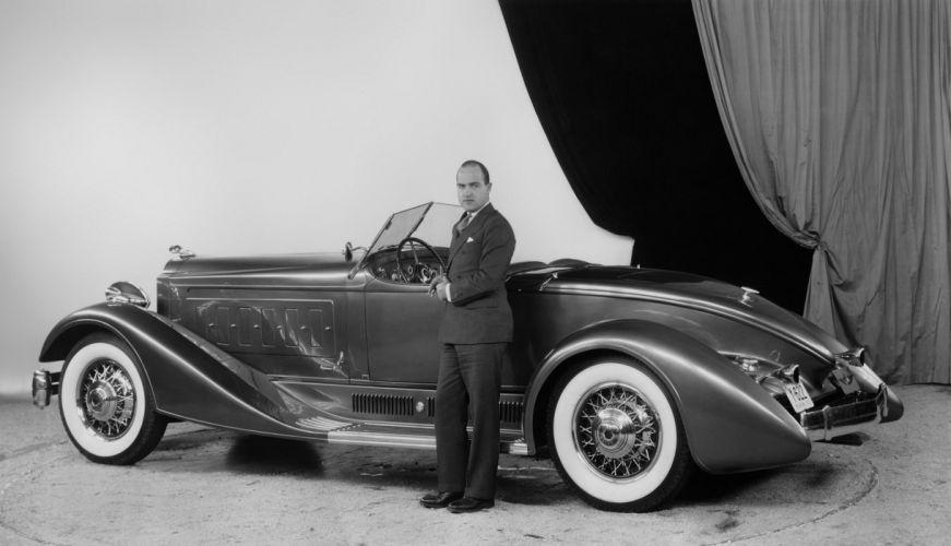 1932 Packard Twin Six Brown-Bomber Boattail Speedster luxury retro vintage wallpaper